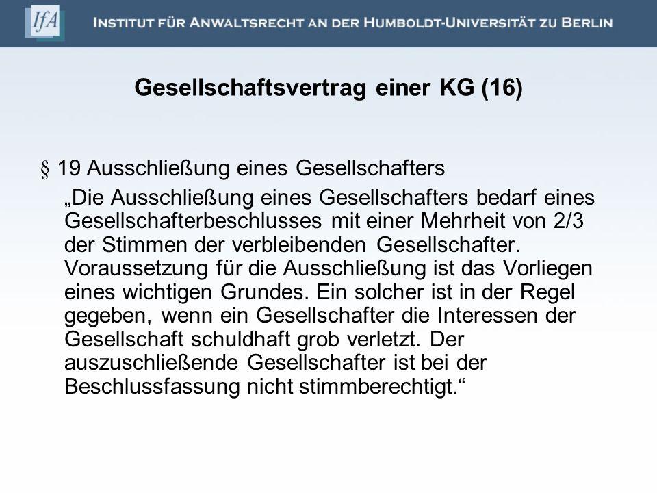 Gesellschaftsvertrag einer KG (16)