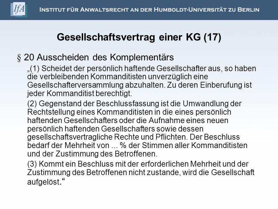 Gesellschaftsvertrag einer KG (17)