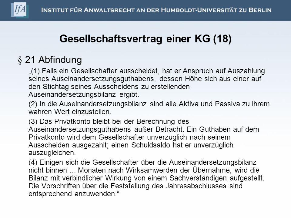 Gesellschaftsvertrag einer KG (18)