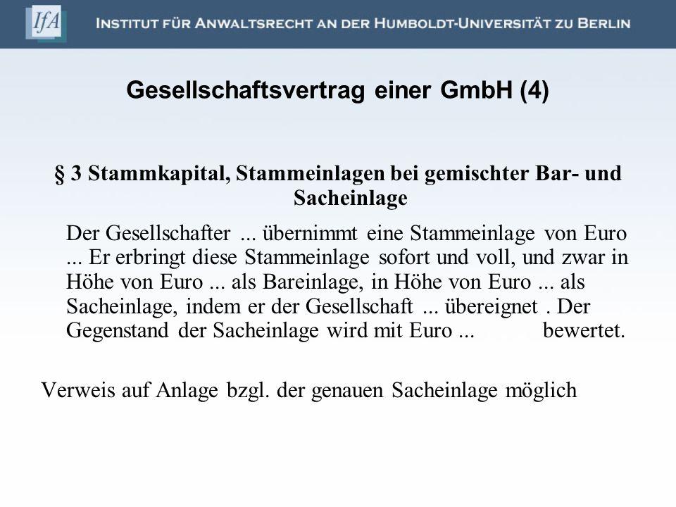 Gesellschaftsvertrag einer GmbH (4)