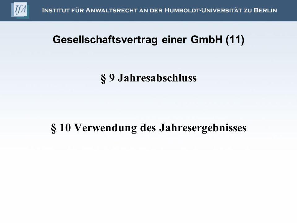 Gesellschaftsvertrag einer GmbH (11)