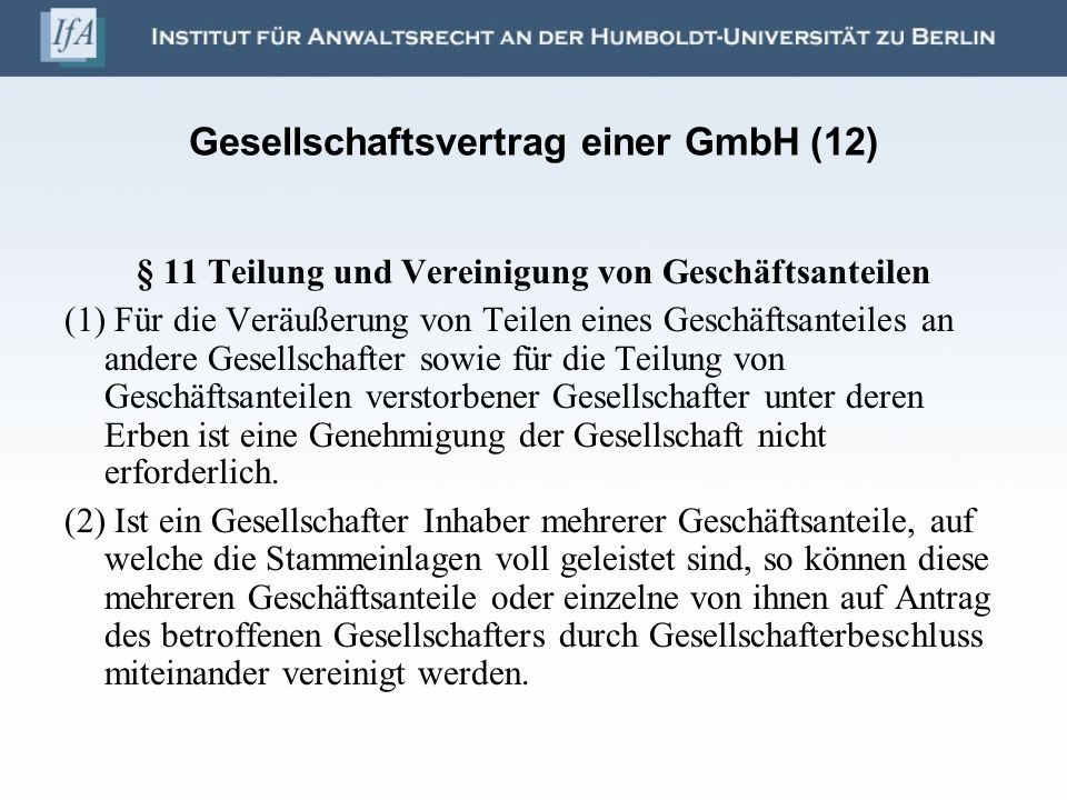 Gesellschaftsvertrag einer GmbH (12)