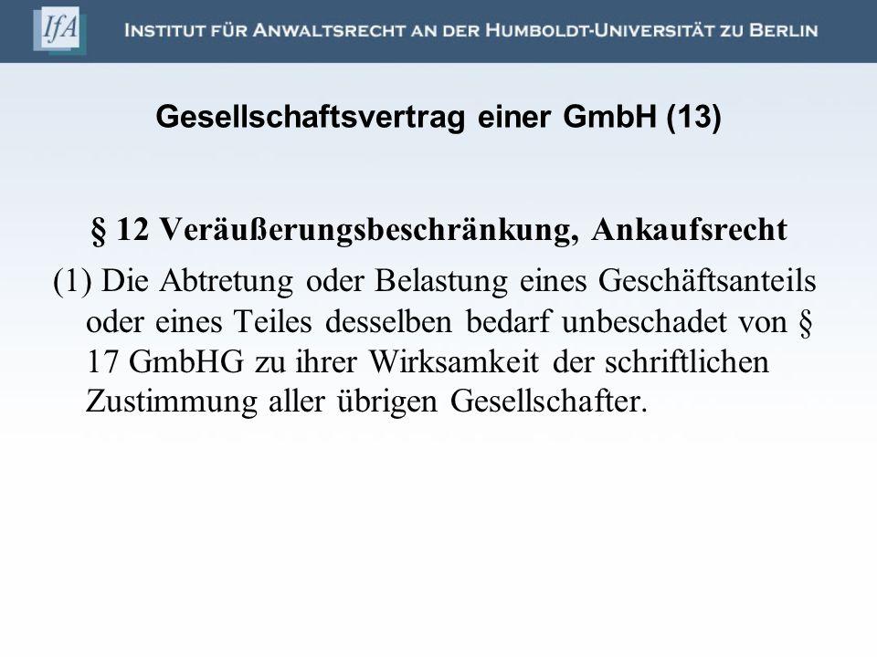 Gesellschaftsvertrag einer GmbH (13)
