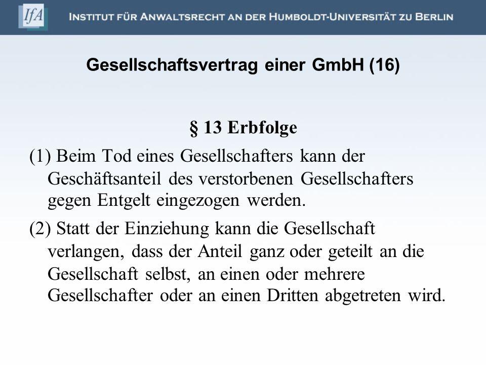 Gesellschaftsvertrag einer GmbH (16)