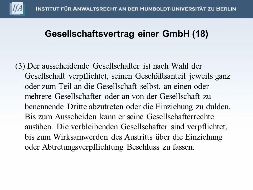 Gesellschaftsvertrag einer GmbH (18)