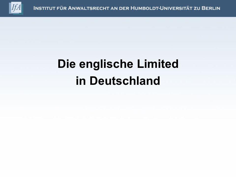 Die englische Limited in Deutschland
