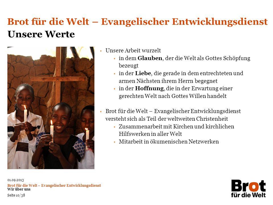 Brot für die Welt – Evangelischer Entwicklungsdienst Unsere Werte
