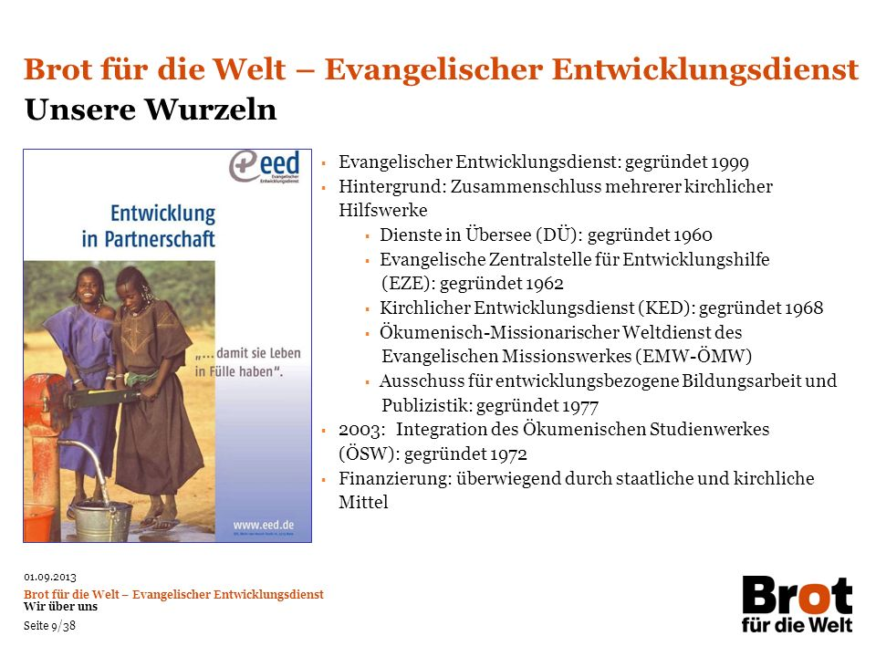 Brot für die Welt – Evangelischer Entwicklungsdienst Unsere Wurzeln