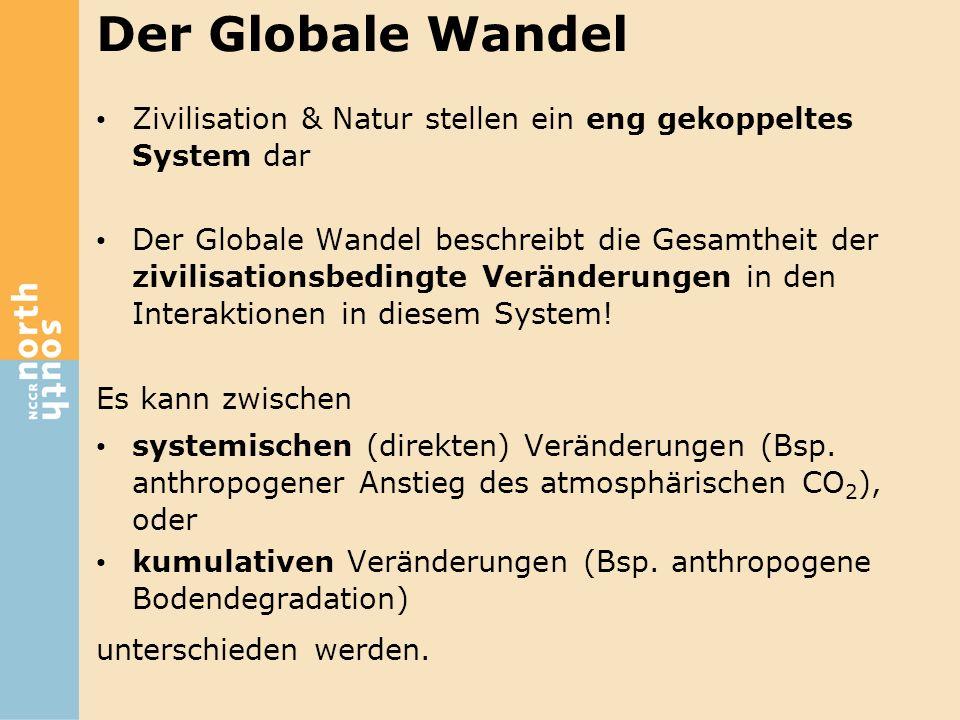 Der Globale Wandel Zivilisation & Natur stellen ein eng gekoppeltes System dar.
