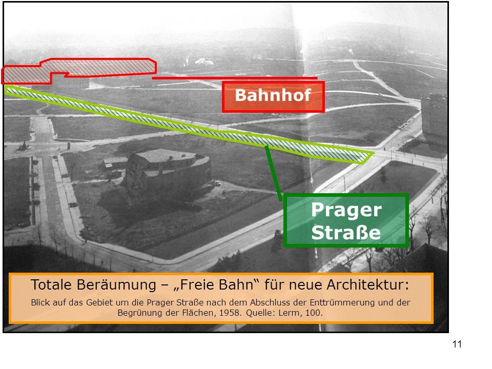 """Totale Beräumung – """"Freie Bahn für neue Architektur:"""