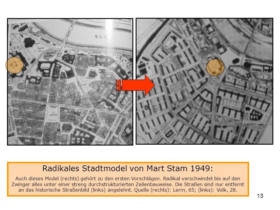 Radikales Stadtmodel von Mart Stam 1949: