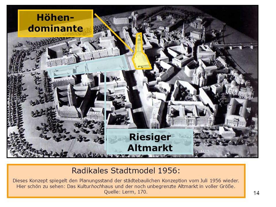 Radikales Stadtmodel 1956: