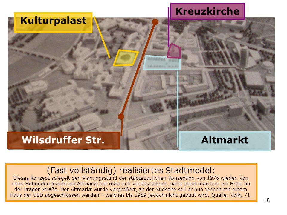 Kreuzkirche Kulturpalast Wilsdruffer Str. Altmarkt