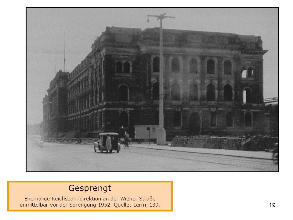 Gesprengt Reichsbahndirektion
