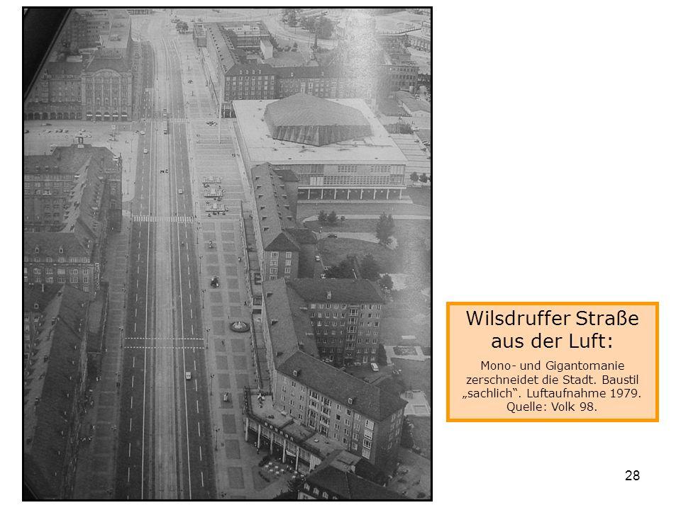 Wilsdruffer Straße aus der Luft: