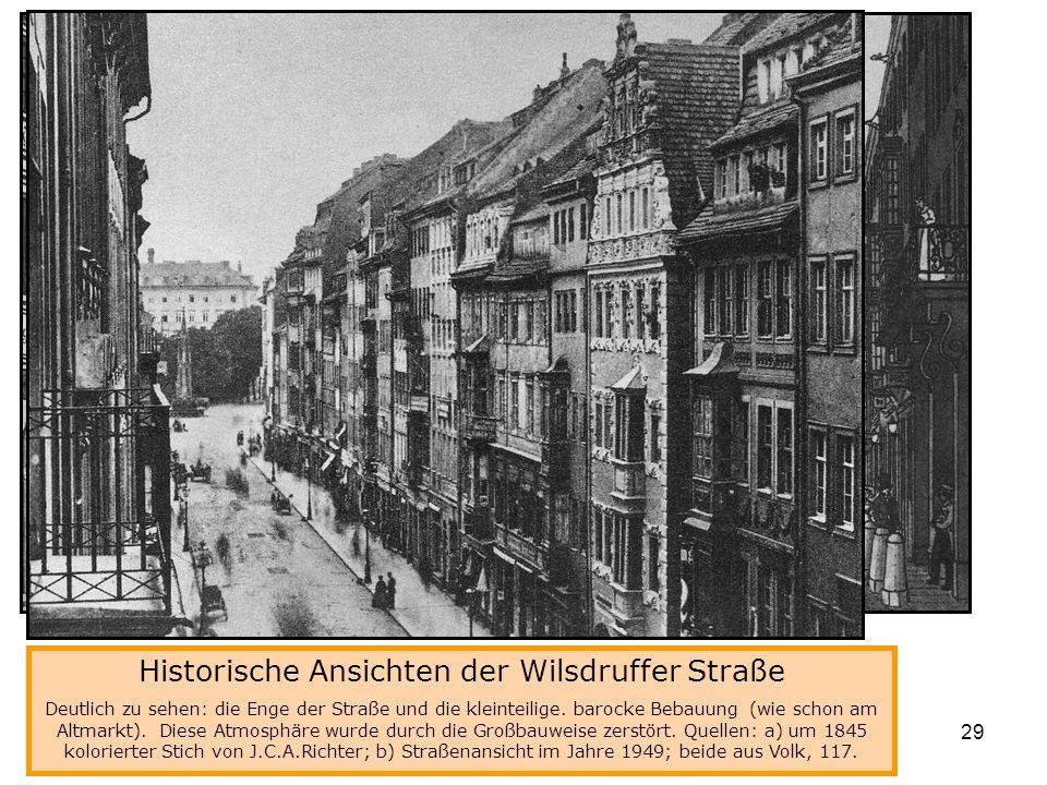 Historische Ansichten der Wilsdruffer Straße