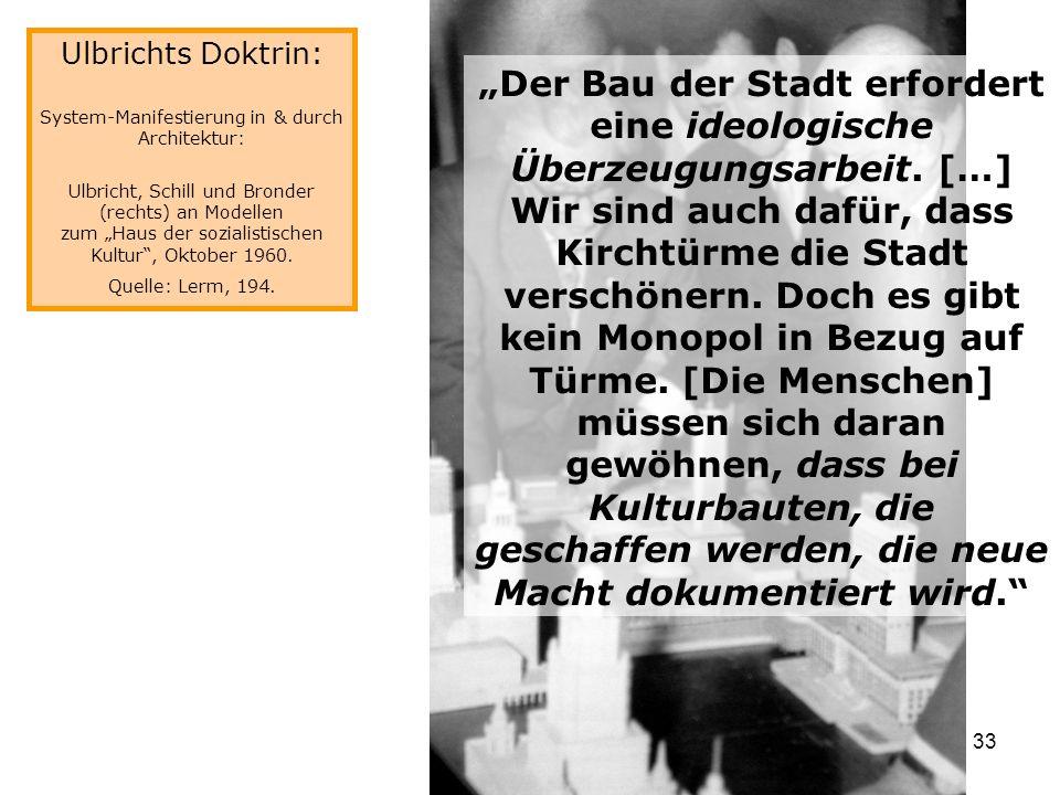 Ulbrichts Doktrin: System-Manifestierung in & durch Architektur: