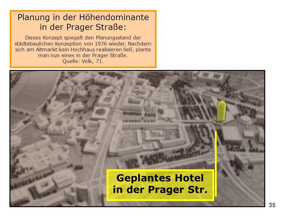 Geplantes Hotel in der Prager Str.