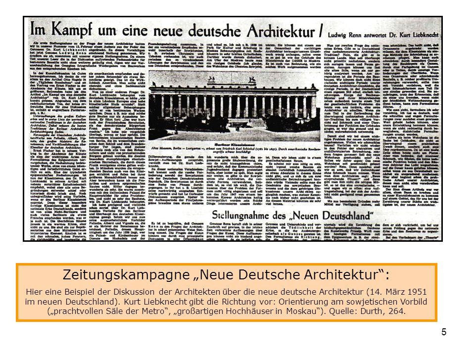 """Zeitungskampagne """"Neue Deutsche Architektur :"""