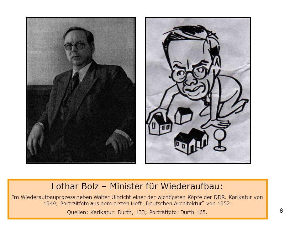Lothar Bolz – Minister für Wiederaufbau: