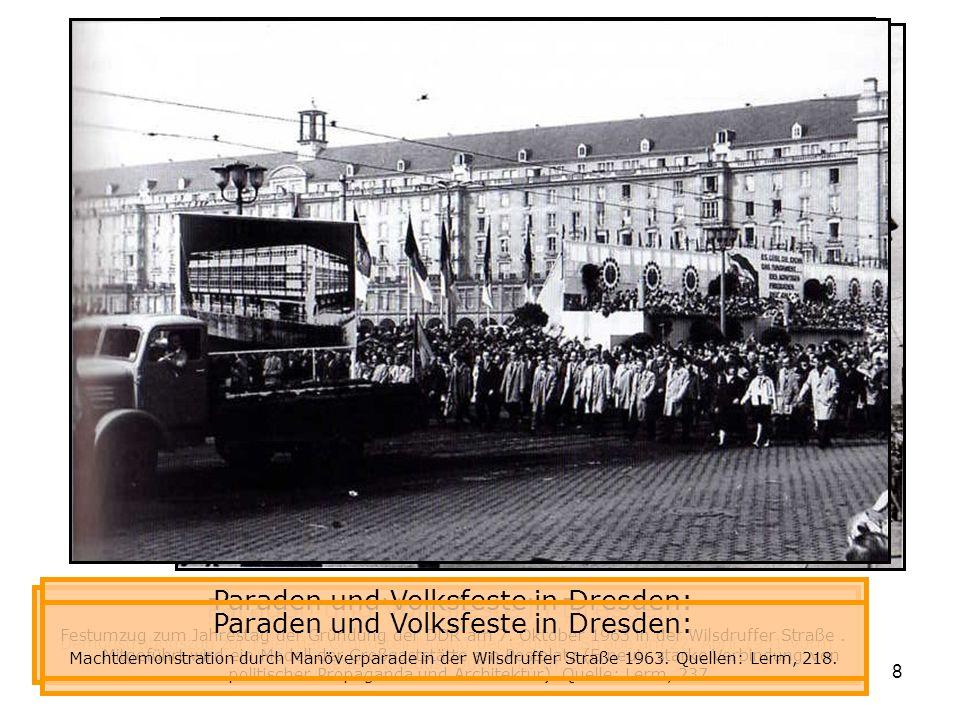 Paraden und Volksfeste in Dresden: Paraden und Volksfeste in Dresden: