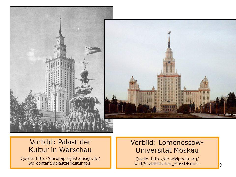 Vorbild: Lomonossow-Universität Moskau