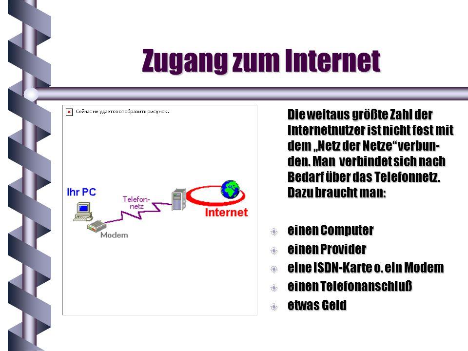 Zugang zum Internet