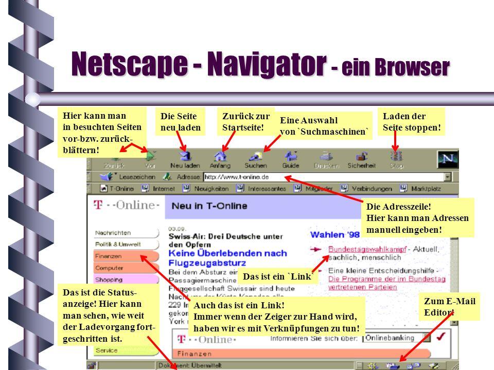 Netscape - Navigator - ein Browser