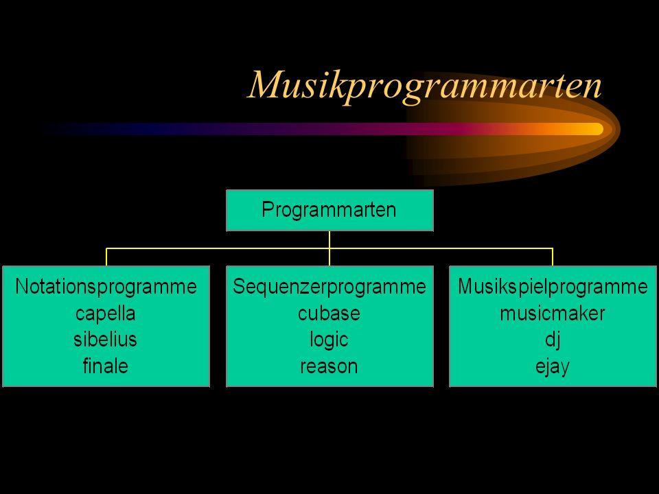 Musikprogrammarten