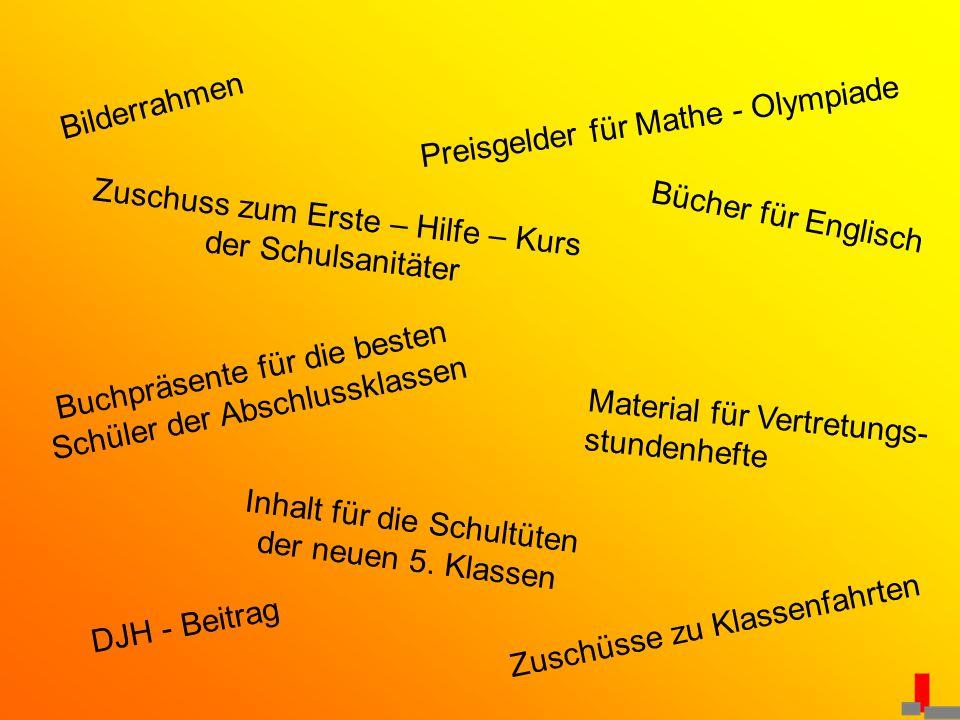 Preisgelder für Mathe - Olympiade