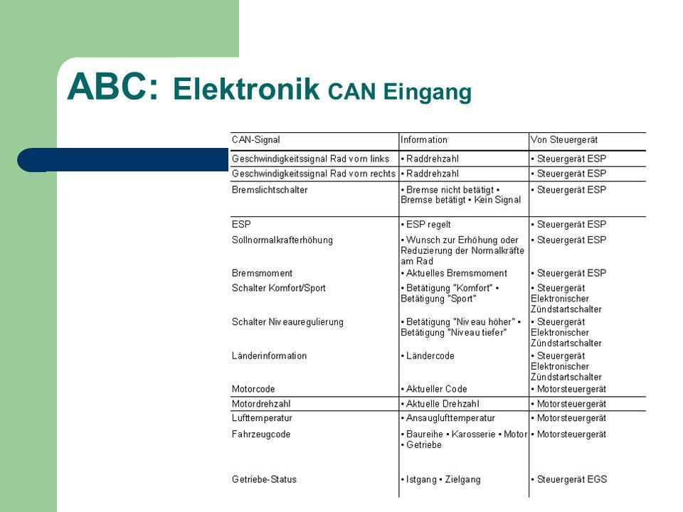 ABC: Elektronik CAN Eingang
