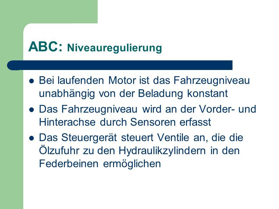 ABC: Niveauregulierung