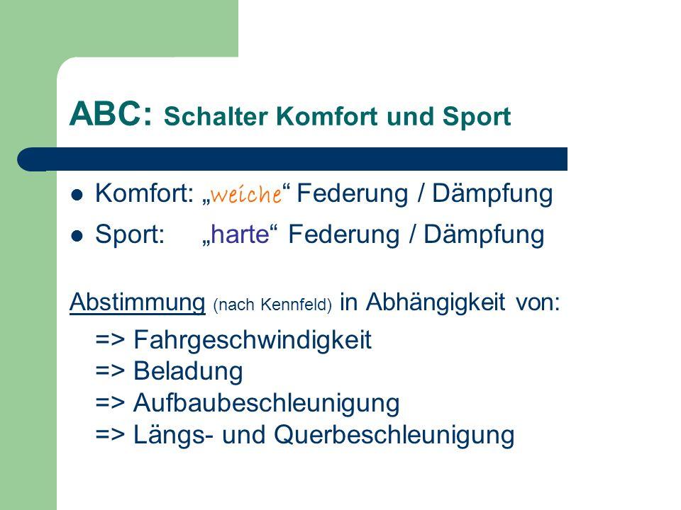 ABC: Schalter Komfort und Sport