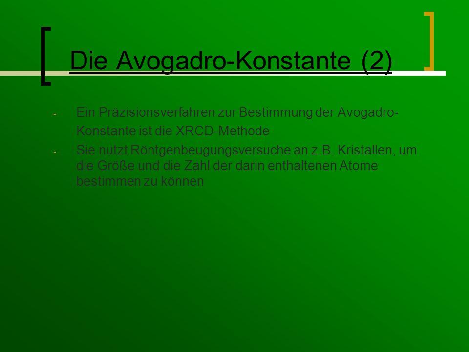 Die Avogadro-Konstante (2)