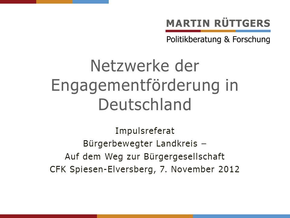 Netzwerke der Engagementförderung in Deutschland
