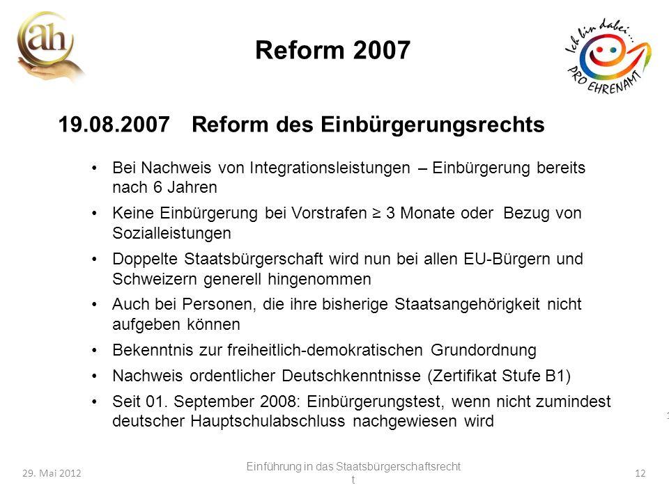 Einführung in das Staatsbürgerschaftsrecht