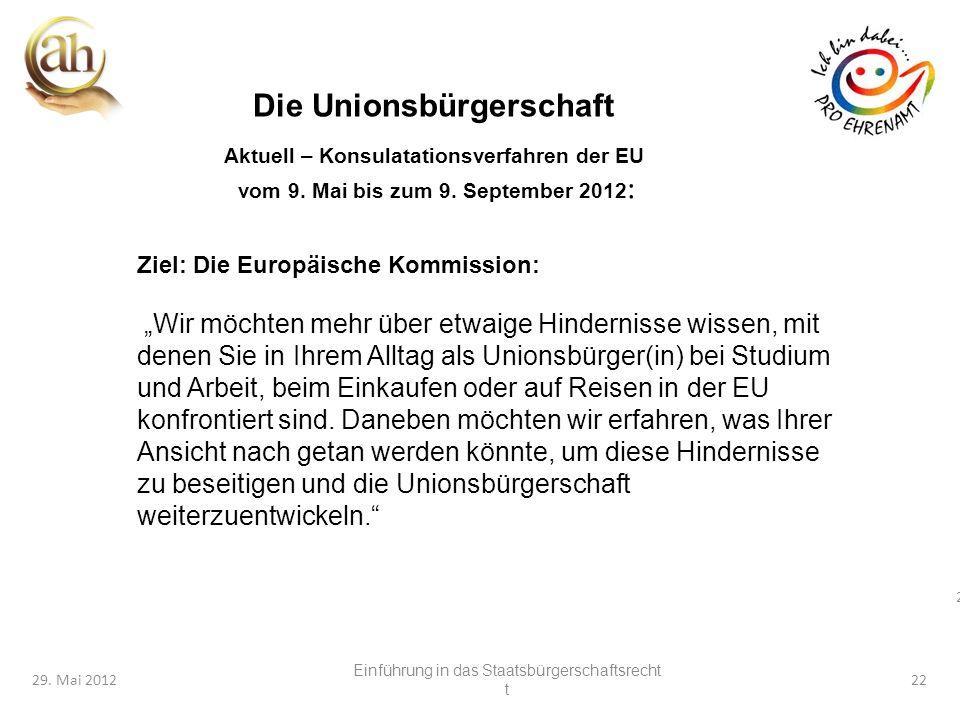 Die Unionsbürgerschaft