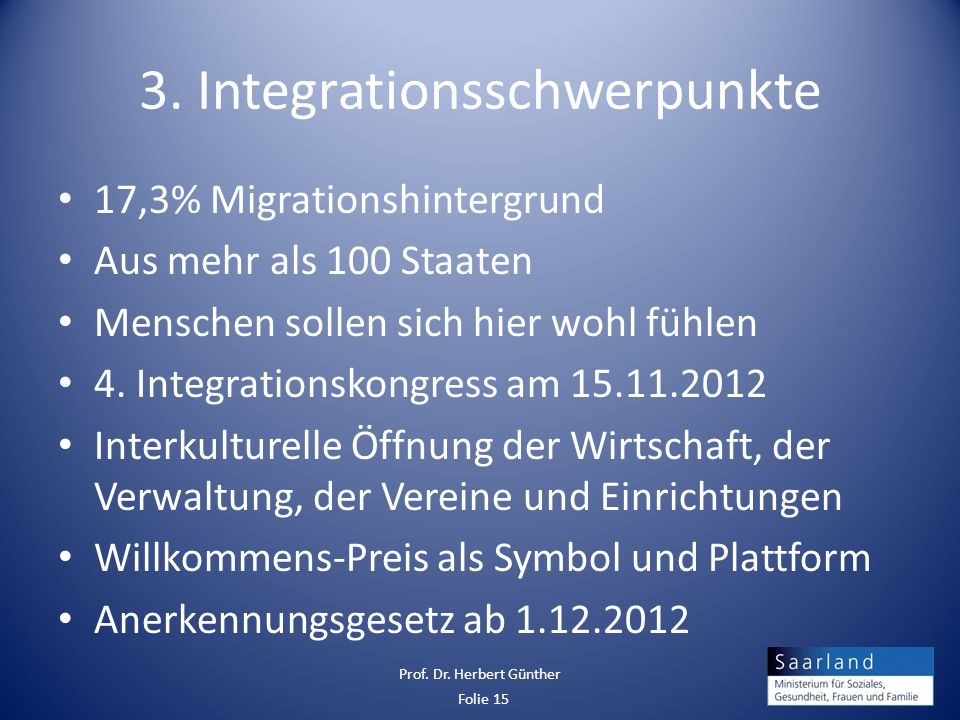 3. Integrationsschwerpunkte
