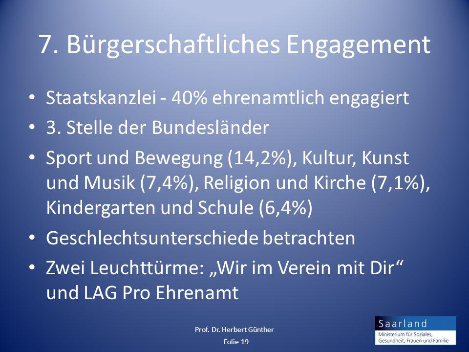 7. Bürgerschaftliches Engagement