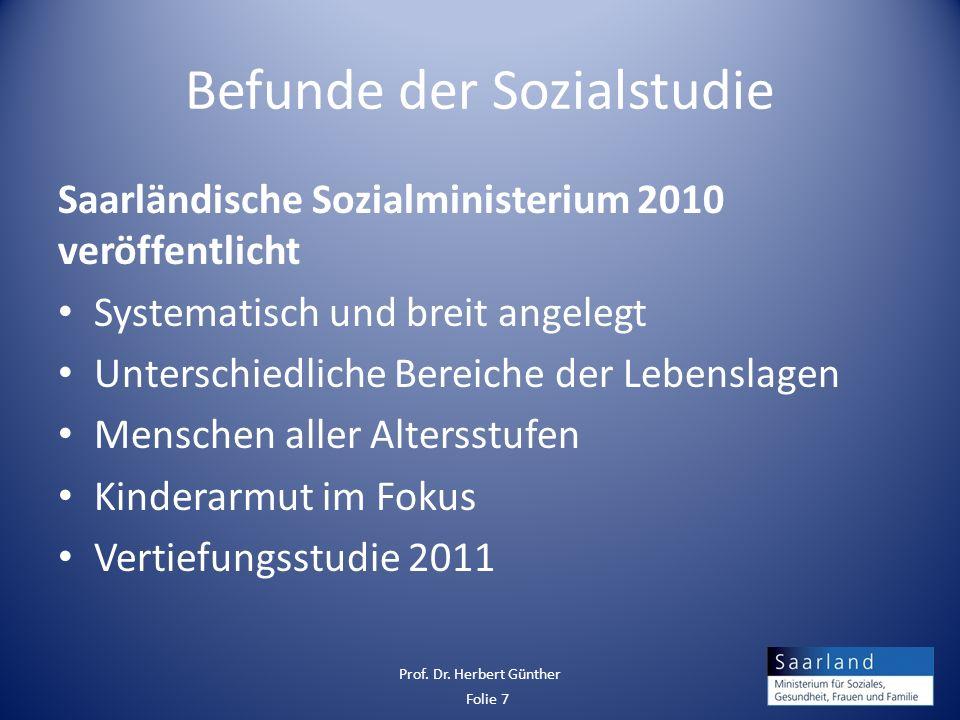 Befunde der Sozialstudie