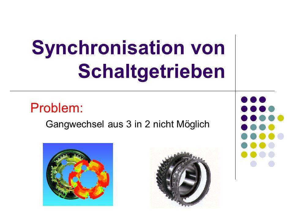 Synchronisation von Schaltgetrieben