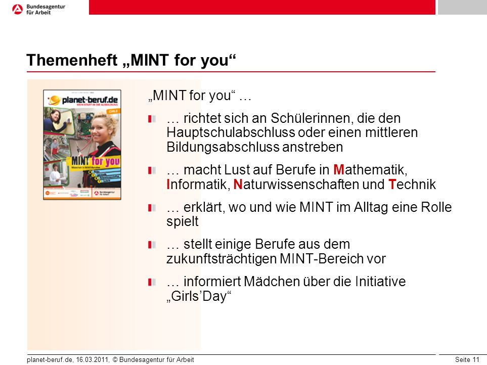 "Themenheft ""MINT for you"
