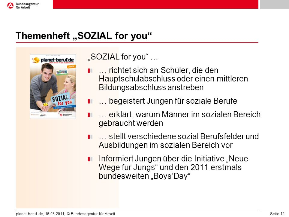 "Themenheft ""SOZIAL for you"