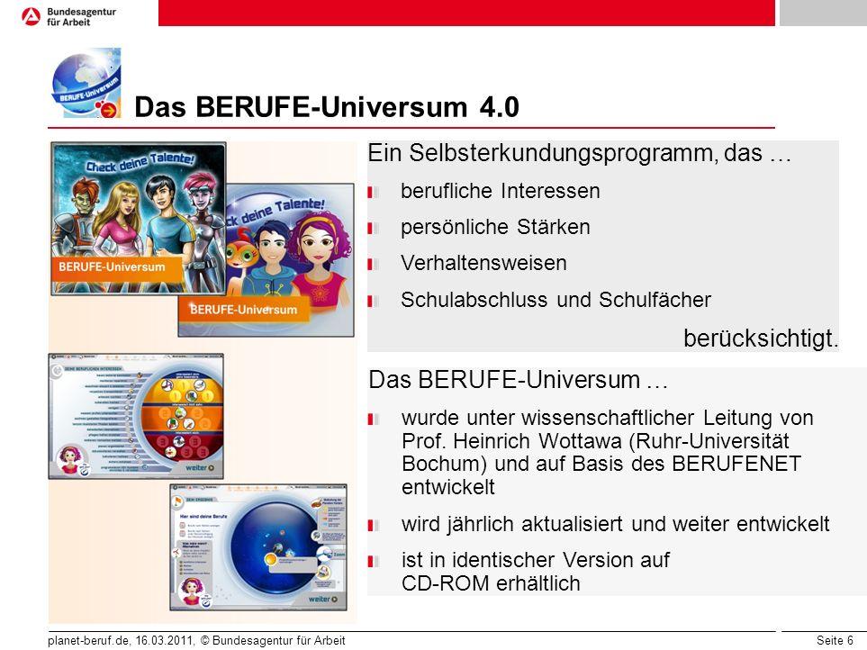 Das BERUFE-Universum 4.0 Ein Selbsterkundungsprogramm, das …