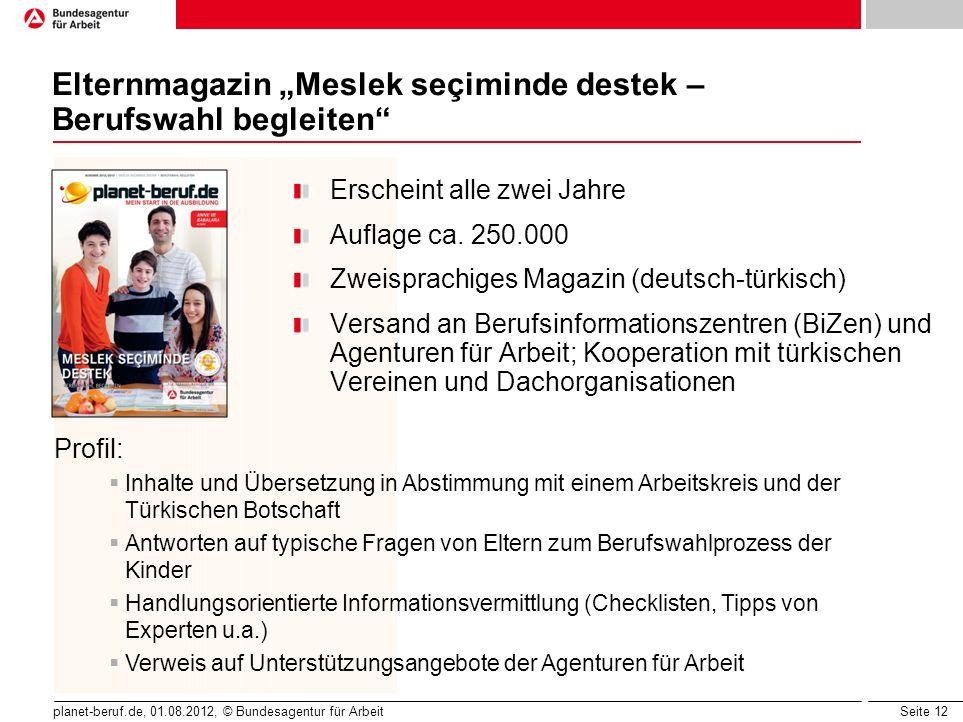 "Elternmagazin ""Meslek seçiminde destek – Berufswahl begleiten"