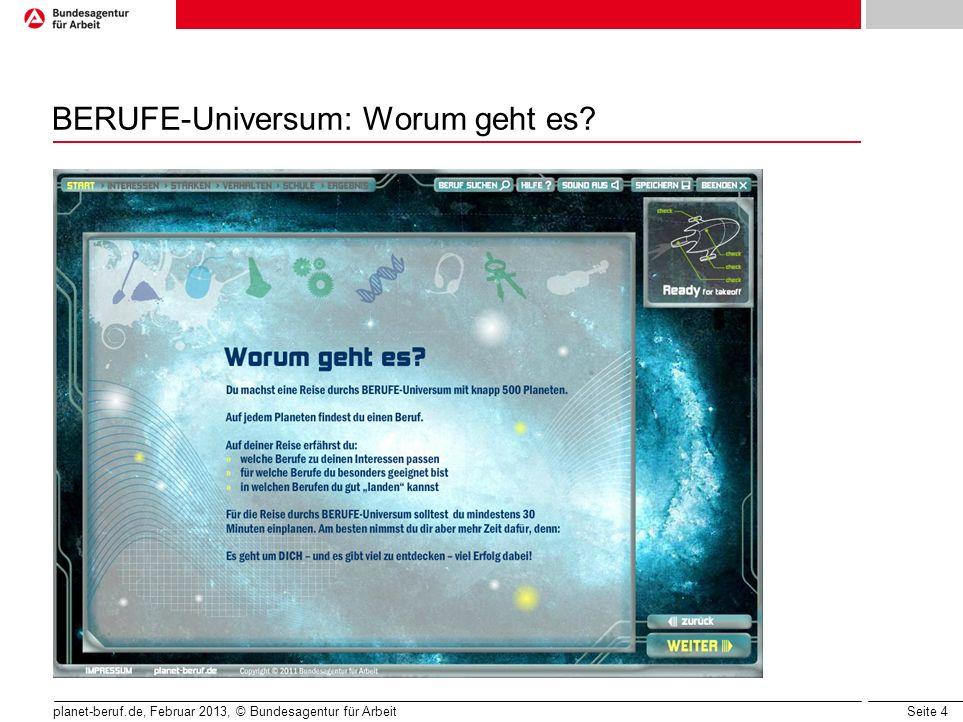 BERUFE-Universum: Worum geht es