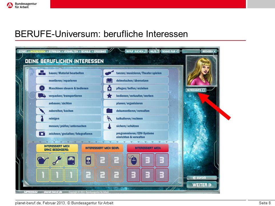 BERUFE-Universum: berufliche Interessen