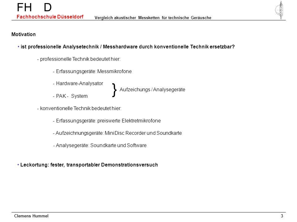 } FH D Fachhochschule Düsseldorf Motivation