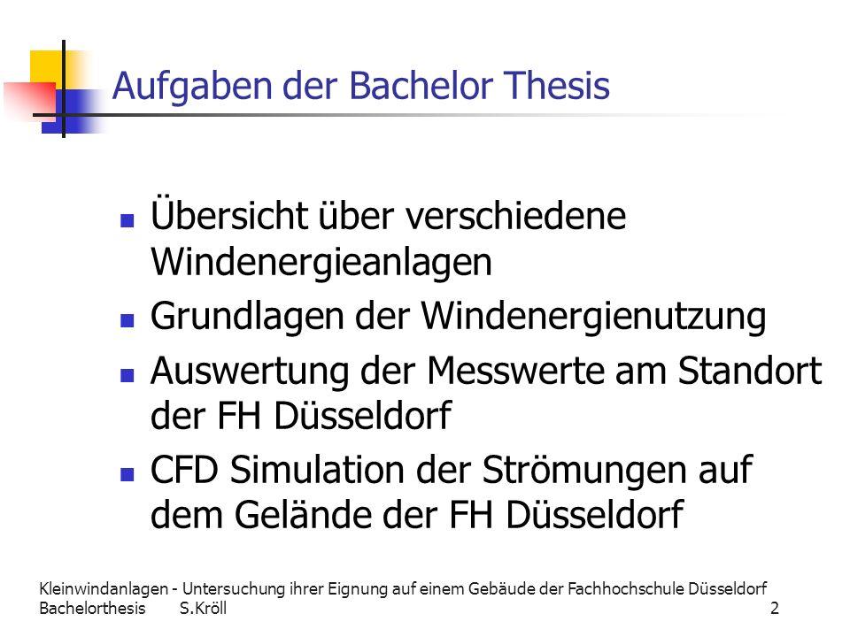 Aufgaben der Bachelor Thesis
