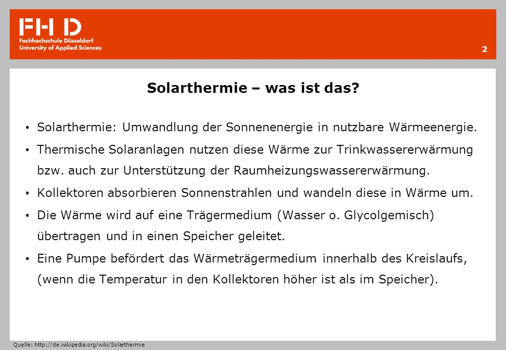 Solarthermie – was ist das